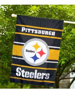 Pittsburgh Steelers Two-Sided House Flag