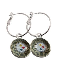 Pittsburgh Steelers Latchback Hoop Earrings