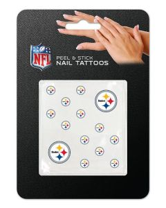 Pittsburgh Steelers Peel & Stick Nail Tattoos