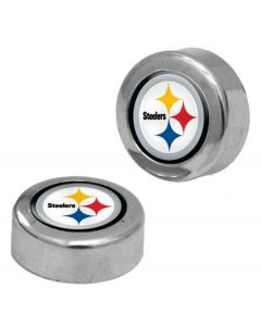 Pittsburgh Steelers Screw Covers for License Plates - Set of Two