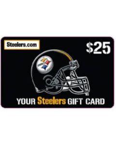 Steelers Merchandise Gift Card $25