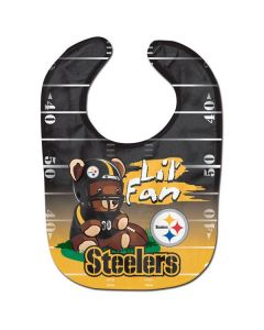 Pittsburgh Steelers Baby Bib-Lil' Fan Teddy
