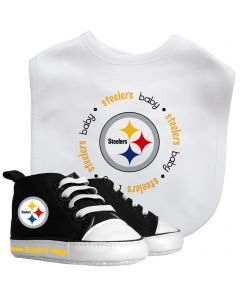Pittsburgh Steelers Pre-Walker Gift Set with Shoes and Bib