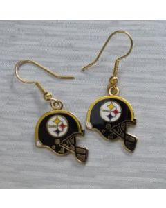 Pittsburgh Steelers Helmet Dangle Earrings