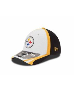 Pittsburgh Steelers New Era 39THIRTY Stretch Fit White Training Hat
