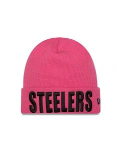 Pittsburgh Steelers Women's New Era Pink Team Frost Knit Hat