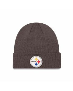 Pittsburgh Steelers New Era Grey 4th Down Cuffed Knit Cap