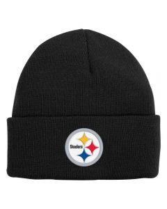 Pittsburgh Steelers Youth Basic Cuffed Black Knit Cap