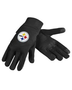 Pittsburgh Steelers Black Texting Gloves