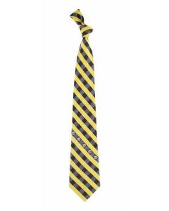 Pittsburgh Steelers Black and Gold Check Tie
