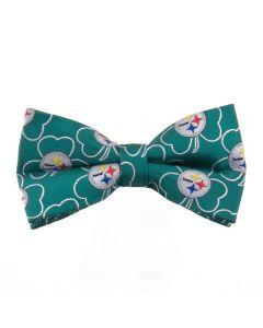 Pittsburgh Steelers Green Shamrock Bow Tie