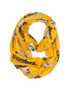 Pittsburgh Steelers Gold Sheer Infinity Scarf