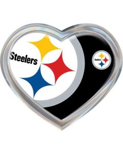 Pittsburgh Steelers Heart Auto Emblem