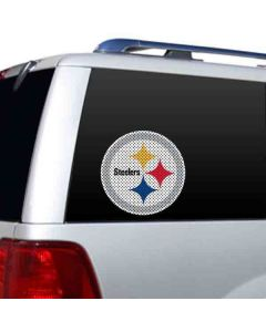 Pittsburgh Steelers Large Color Perforated Logo Window Film