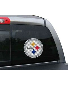 Pittsburgh Steelers Small Color Perforated Logo Window Film