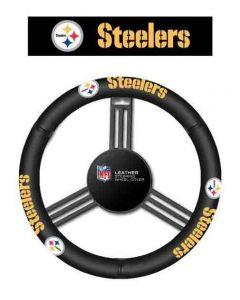 Pittsburgh Steelers Leather Steering Wheel Cover