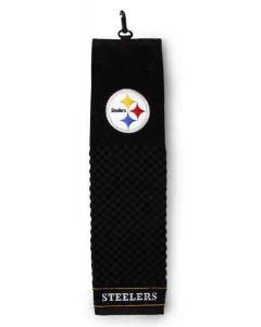Pittsburgh Steelers Black Tri-Fold Golf Towel