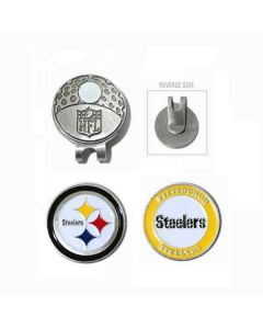 Pittsburgh Steelers Cap Clip and Golf Ball Markers