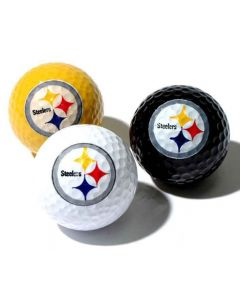 Pittsburgh Steelers Three Golf Ball Multi-Color Pack