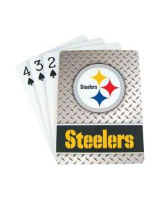 Pittsburgh Steelers Steel Grid Playing Cards