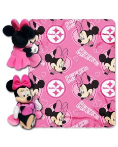 Pittsburgh Steelers Minnie Mouse Throw/Hugger Set
