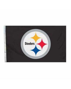 Pittsburgh Steelers 3' x 5' Black Logo Flag