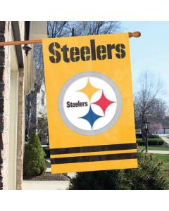 Pittsburgh Steelers Gold Striped House Flag