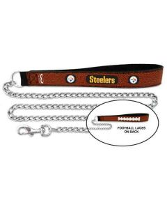 Pittsburgh Steelers Leather & Chain Leash