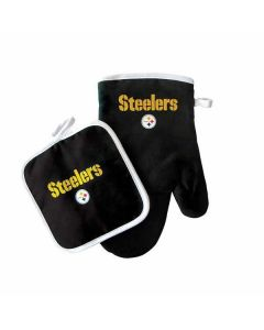 Pittsburgh Steelers Pot Holder and Oven Mitt Set