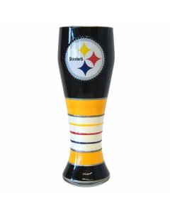 Pittsburgh Steelers Pilsner Hand Painted Glass