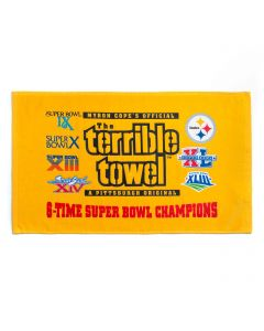 Pittsburgh Steelers 6-TIME Super Bowl Champs Terrible Towel