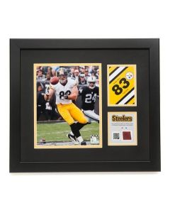 Pittsburgh Steelers #83 Heath Miller Framed Photo with a piece of Game-Used Football