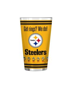 Pittsburgh Steelers 16oz Got Rings Gold Pint Glass