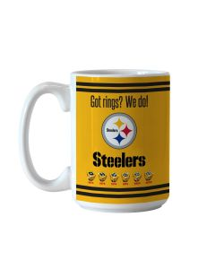 Pittsburgh Steelers 15oz Got Rings Gold Coffee Mug