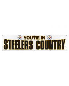 Pittsburgh Steelers You're in Country Banner - White