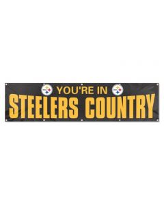 Pittsburgh Steelers You're in Country Banner - Black