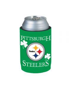 Pittsburgh Steelers Shamrock Can Coolie w/ Logo