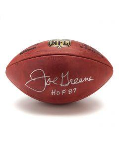 Pittsburgh Steelers #75 Joe Greene Autographed Wilson NFL 'The Duke' Authentic Game Football