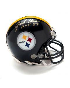 Pittsburgh Steelers #59 Jack Ham Autographed Riddell Mini Helmet