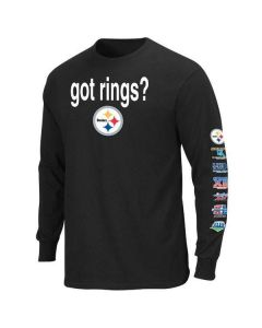 Pittsburgh Steelers Got Rings Longlseeve Black T-Shirt-Extended Sizes