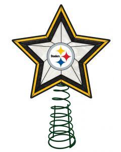 Pittsburgh Steelers Art Glass Tree Topper