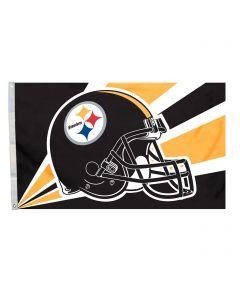 Pittsburgh Steelers 3' x 5' Helmet Striped Flag