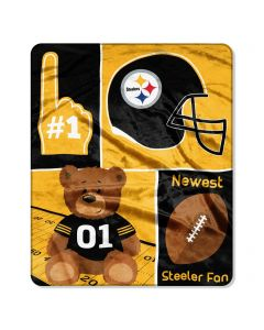 Pittsburgh Steelers Smallest Fan Baby Blanket