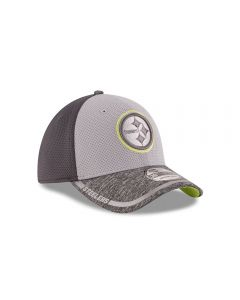 Pittsburgh Steelers New Era 39THIRTY Neon Green Training Cap
