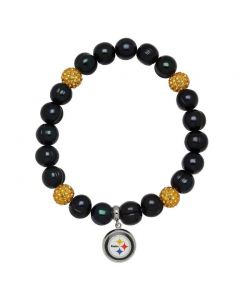 Pittsburgh Steelers Pearls and Sparkles Bracelet