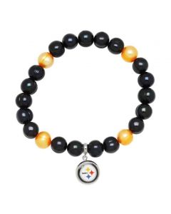 Pittsburgh Steelers Honora Black and Gold Pearls Bracelet