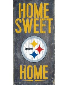 Pittsburgh Steelers 'Home Sweet Home' Wood Sign