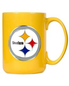 Pittsburgh Steelers Gold Coffee Mug with 3D Logo