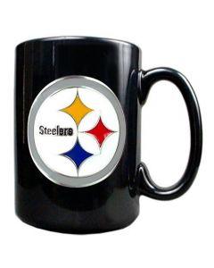 Pittsburgh Steelers Black Coffee Mug with 3D Logo
