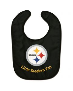Pittsburgh Steelers Little Steelers Fan Black Baby Bib